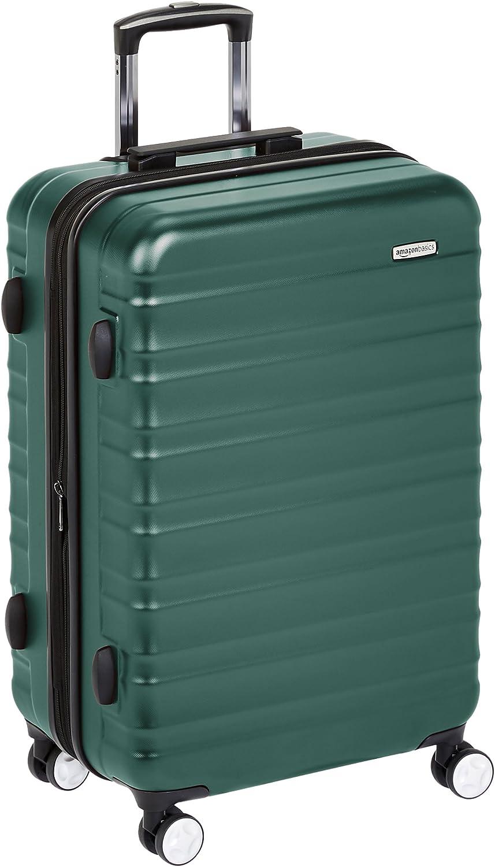AmazonBasics - Maleta rígida de alta calidad, con ruedas y cerradura TSA incorporada - 78 cm, Verde