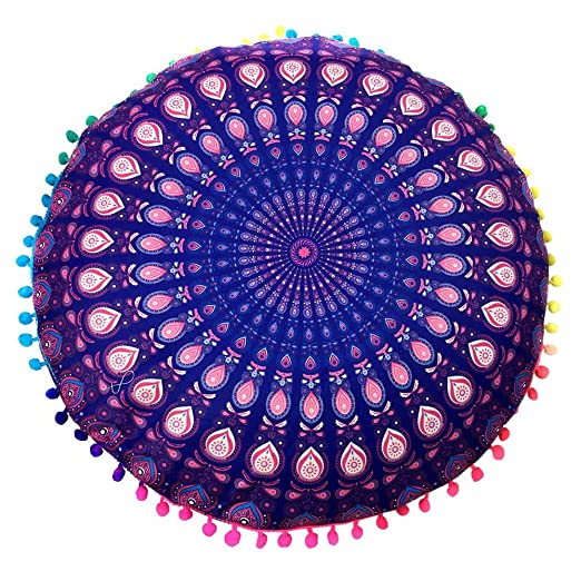Redvive - 1 Funda de cojín India de Mandala Grande para el ...