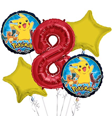 Amazon.com: Pokemon Globo Ramo 8th – 5 pcs de cumpleaños ...
