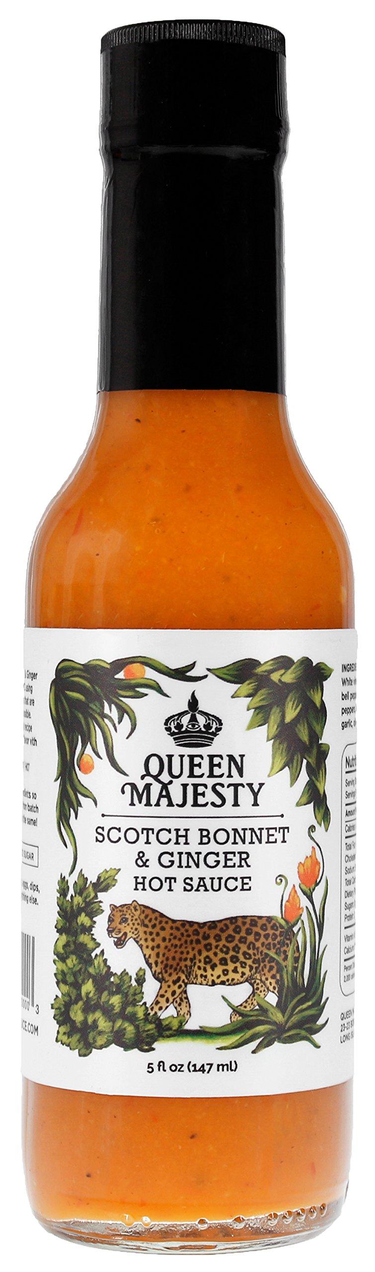 QUEEN MAJESTY HOT SAUCE Hot Sauce Scotch Bonnet Ginger, 5 FZ