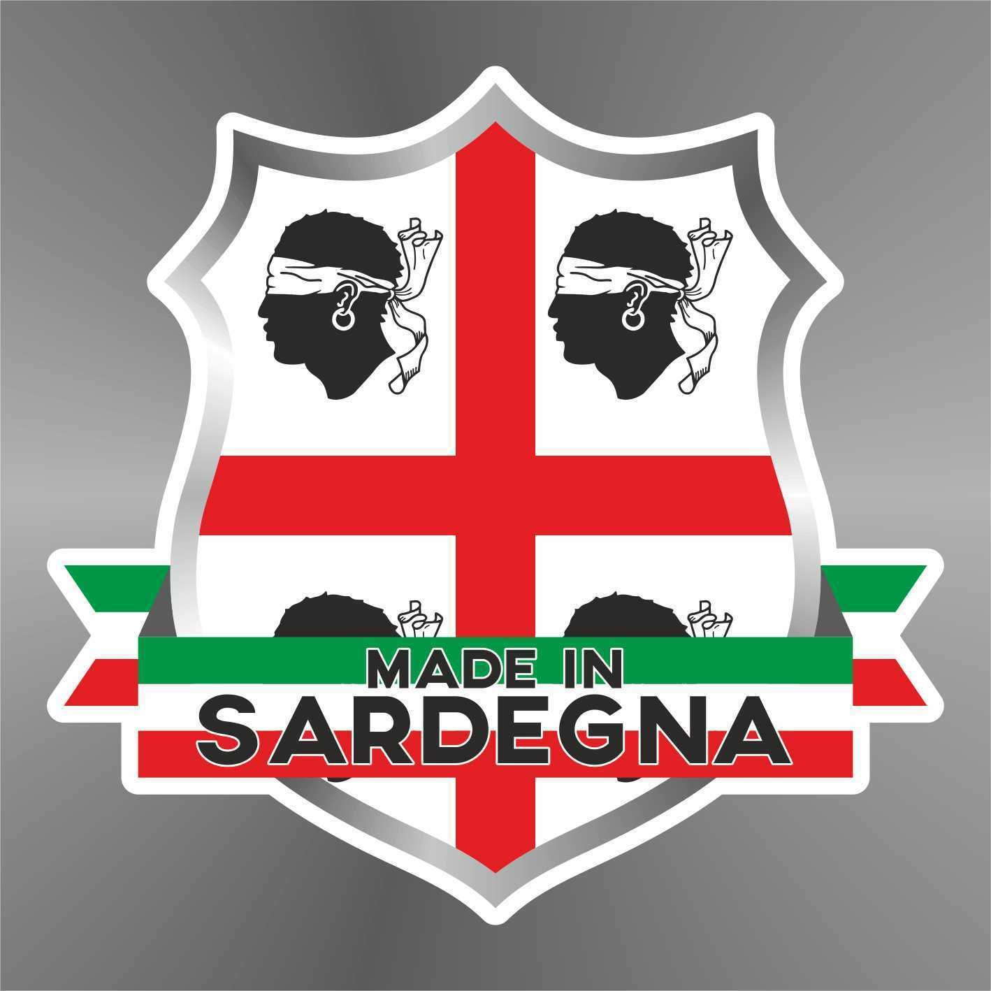 Sticker Sardegna Sardaigne Cerdeñ a Sardinia Sardinien Italia Italy Italie Italien - Decal Cars Motorcycles Helmet Wall Camper Bike Adesivo Adhesive Autocollant Pegatina Aufkleber - cm 10 erreinge