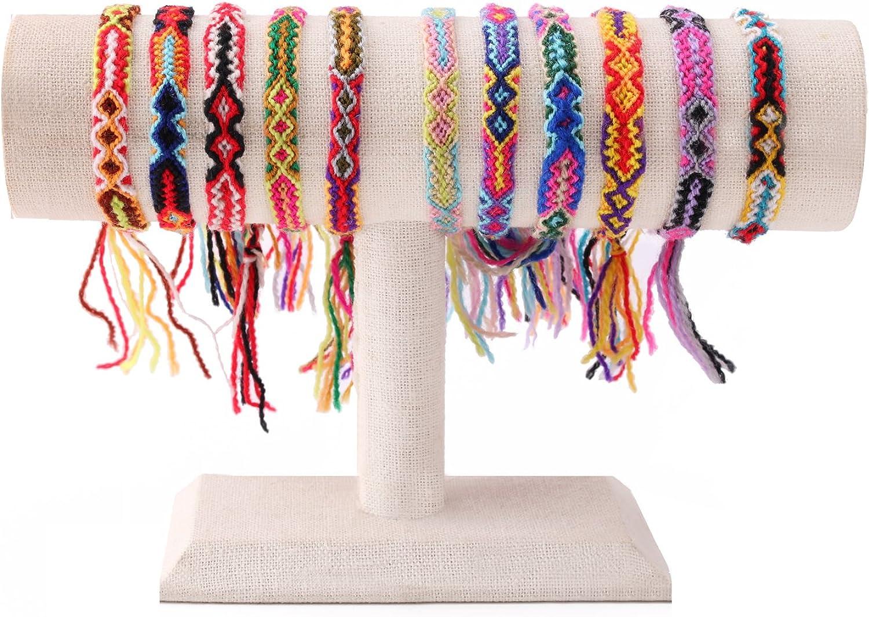 KELLITCH 3 PCS / 10 PCS Hilo de algodón Multicolor Tejido a Mano Pulsera de la Amistad de Boho
