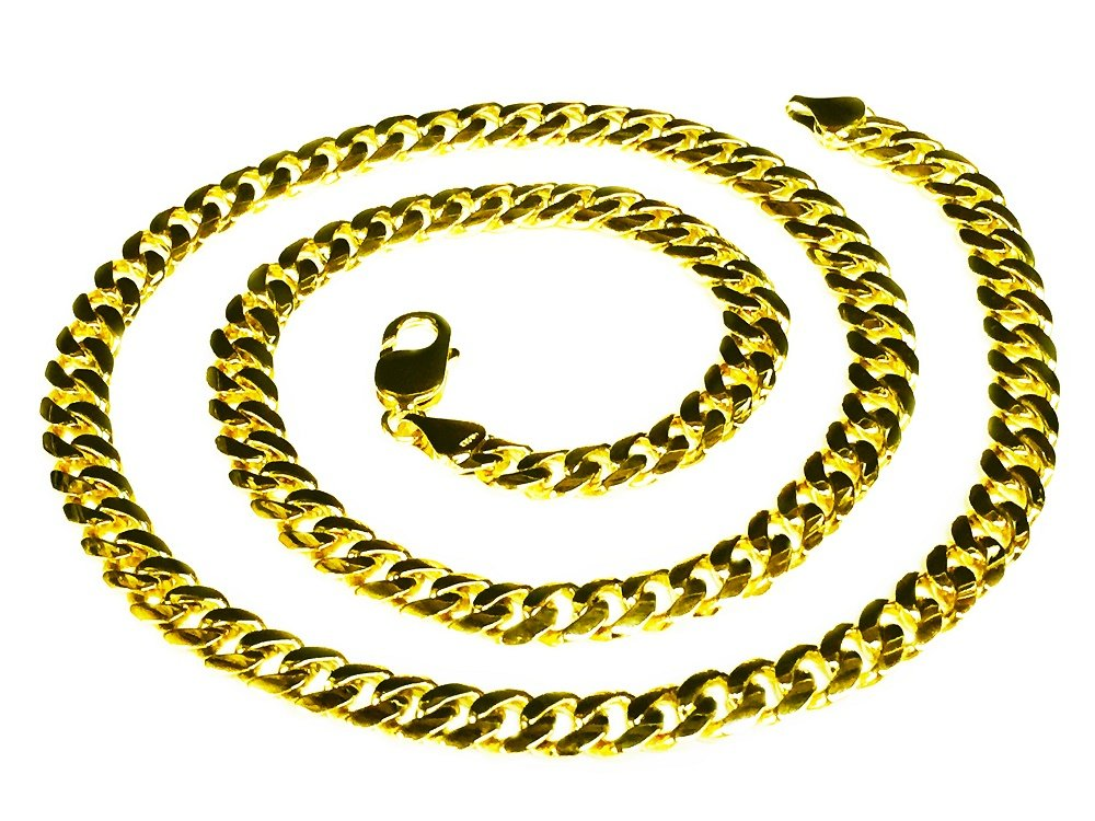 14k Solid Yellow Gold Miami Cuban Curb Link 28'' 8 mm 100 grams chain/Necklace