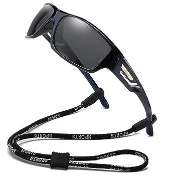 Amazon.com: Gafas de sol deportivas polarizadas Bevi TR90 ...