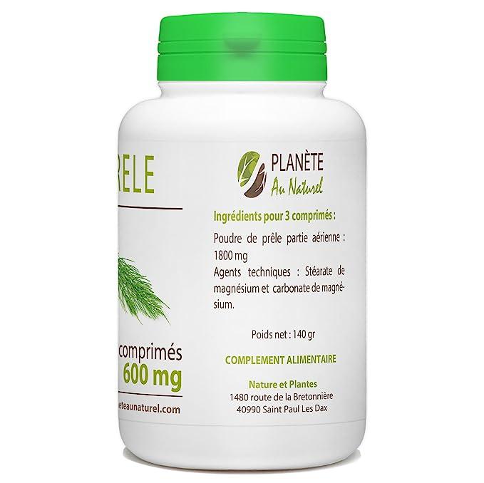 Cola de caballo, 600 mg, 200 comprimidos: Amazon.es: Salud y cuidado personal