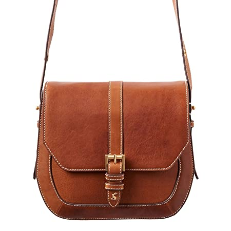 Joules Womens Saddle Leather Bag ONE in OXBLOOD in One Size