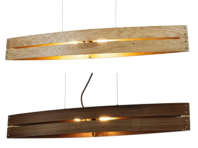 Hängeleuchte Holz hängeleuchte holz canot pendelleuchte aus eiche nussholz mahagoni