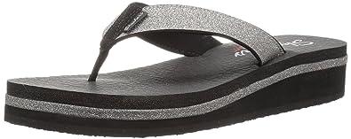 0c022ab3b2fe Skechers Women s Vinyasa-Unicorn Mist-Micro Glitter Flip Flop