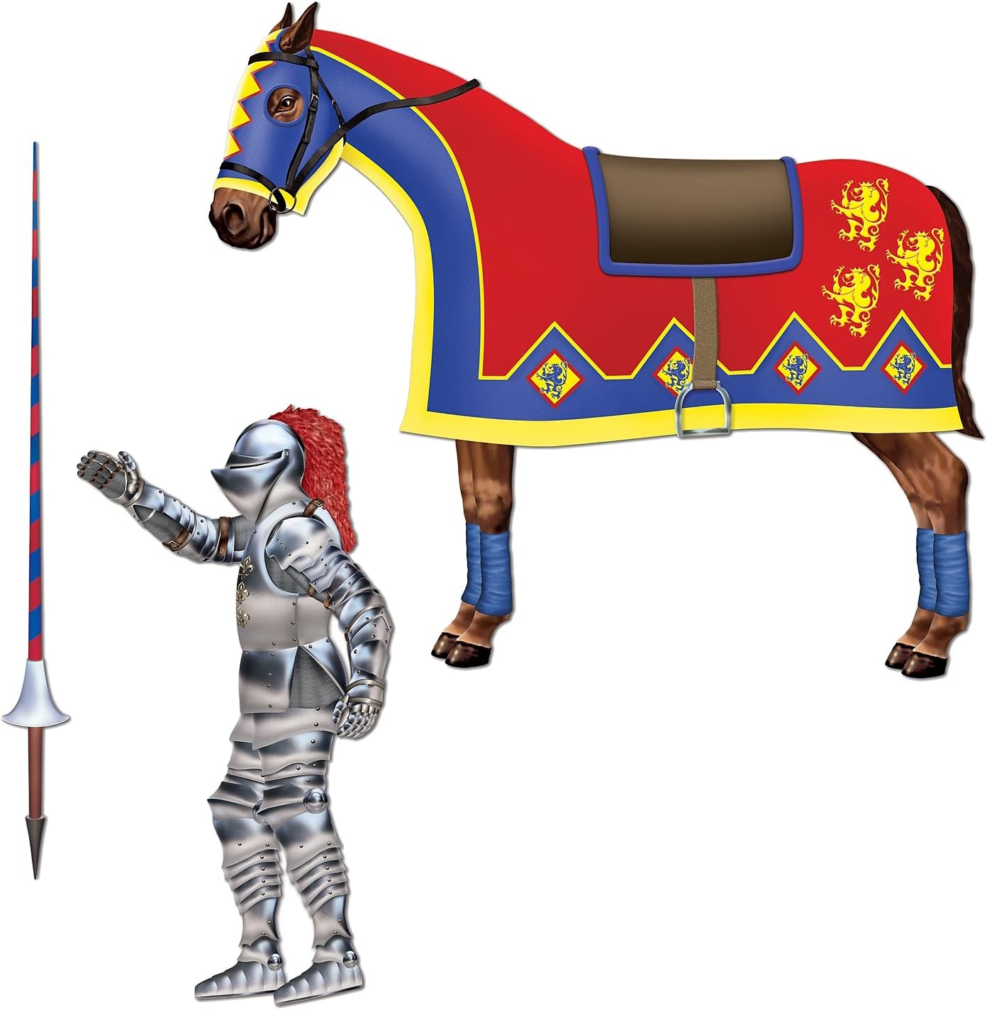 Inflatable Sword /& Shield Set Prop Toy Medieval Birthday Renaissance Party Event