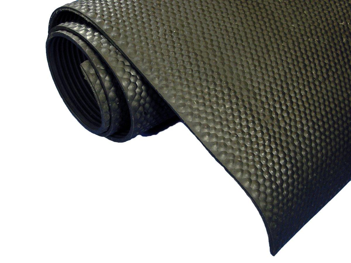 Bulldog Rubber Mat, Black, 60-Inch x 96-Inch x .2362-Inch