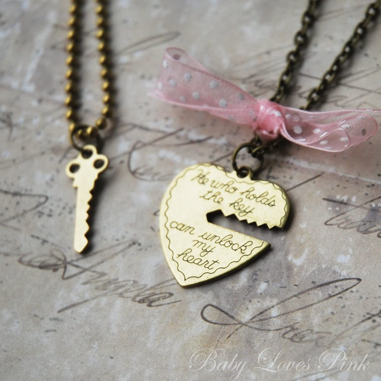 Amazon.com: Key to My Heart - Heart and Key Brass Couple's ...