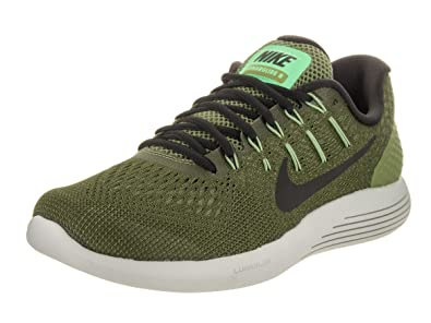 NIKE Men's Lunarglide 8 Palm Green/Black/Legion Green Running Shoe 13 Men US