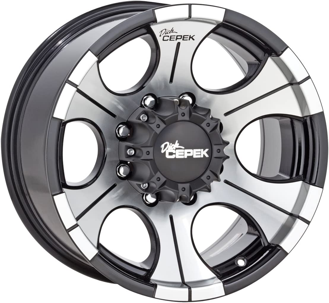 Dick Cepek 90000000498 DC-2 Gloss Black Wheel with Machined Finish 17x9//5x4.5