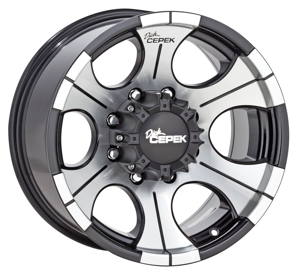 Dick Cepek DC-2 Gloss Black Wheel with Machined Finish, 20x9.5 inches (5 holes x 6.5 inches)