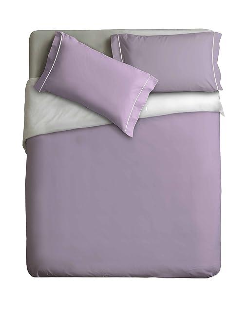 Küche Zweifarbig | Ipersan Zweifarbig Bettbezug Flieder Weiss Cm 255x240 Amazon De