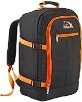 Cabin Max Backpack Flight Approved Carry On Bag Massive 44 litre Travel Hand Luggage 55x40x20 cm (Black/Orange)
