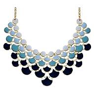JANE STONE Necklace Vintage Openwork Bib Statement Jewelry