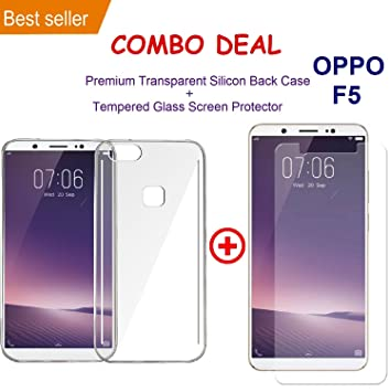 f620cd222679b9 OPPO F5 Transparent Silicone TPU Shock Proof Ultra Slim: Amazon.in:  Electronics