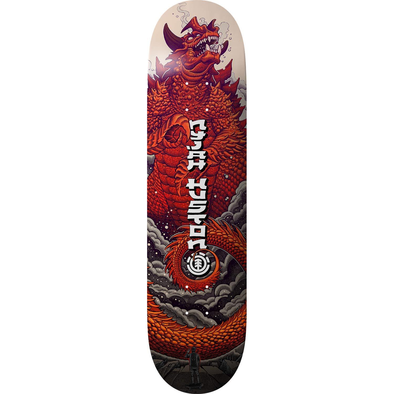 Element Nyjah Reptilicus Skateboard Deck Bundled with Free 1 Hardware Set 8.1
