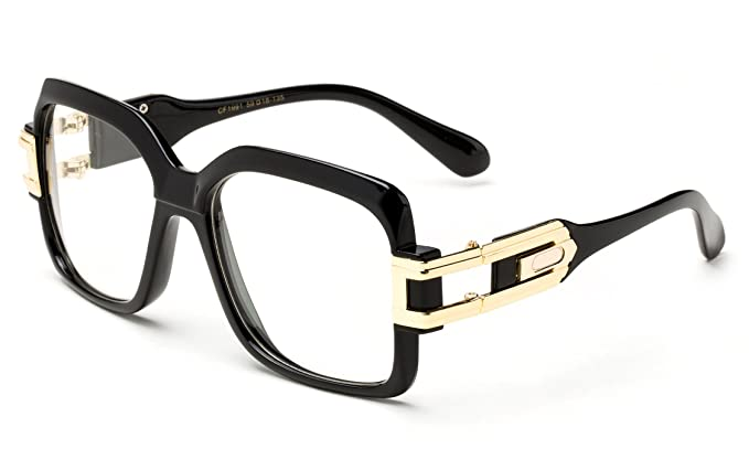 df0df204373 Karat Thick Frame Rapper 80 s 90 s Retro Design Clear Lens Frames  Amazon.ca   Clothing   Accessories