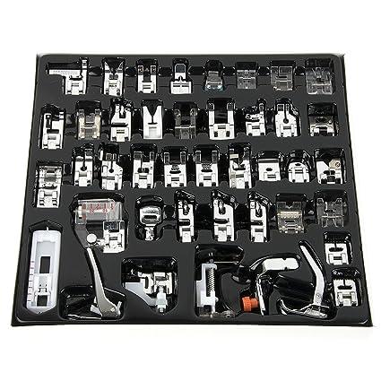 Juego de pies prensatelas de 42 piezas para máquina de coser; compatible con