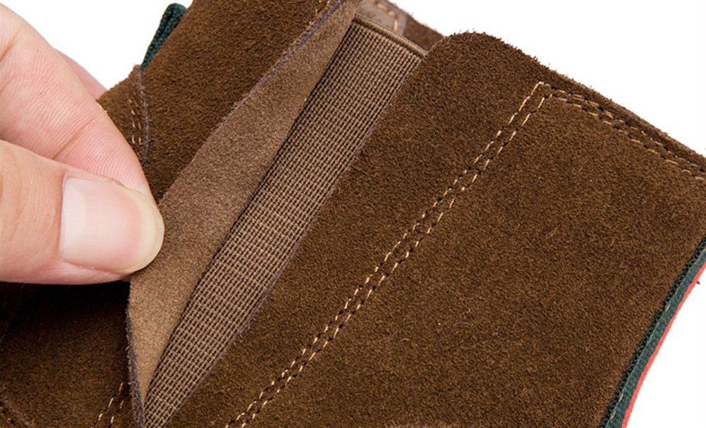 Fangsto Women's Distressed Suede Classic Chelsea Ankle Booties B01LTDT390 7.5 B(M) US|Brown