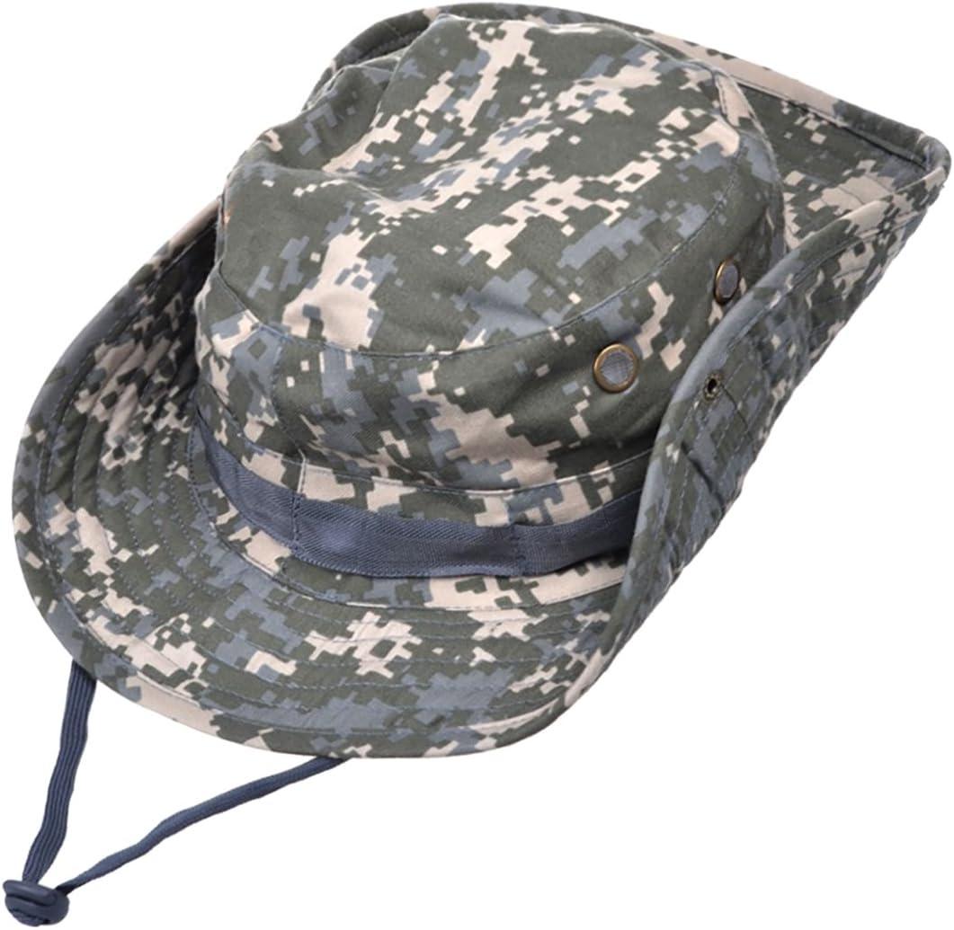 MerryBIY 2 en 1 Sombrero del cubo de Deportes al Sol-shading Sol Gorro aire libre Boonie Hat Cap de Camuflaje Hombre Exterior Selva Equipo Monta/ñismo Sombrero Viaje Pesca Hat