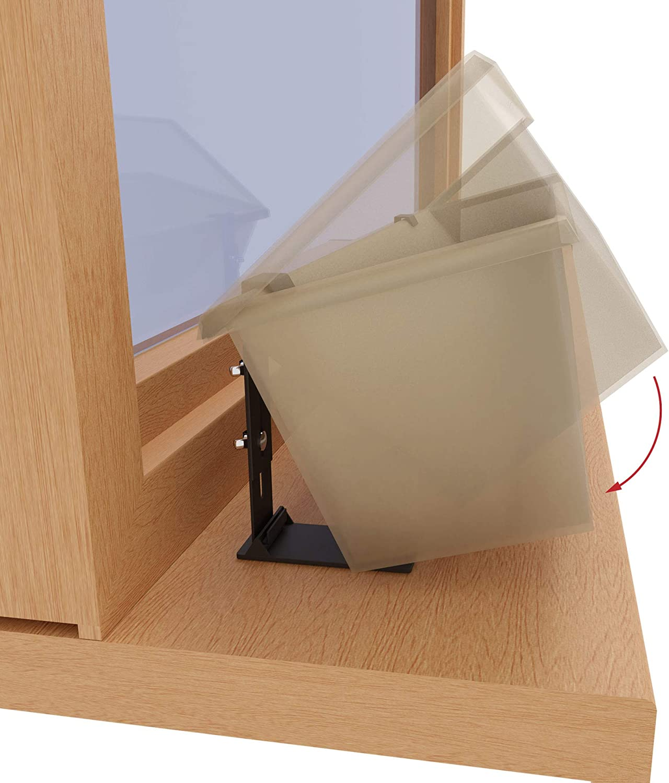 Fixpot der unsichtbare und sichere Blumenkastenhalter f/ür jedes Fenster mit Fensterbank 2 er Set mit Adapter Farbe Terracotta