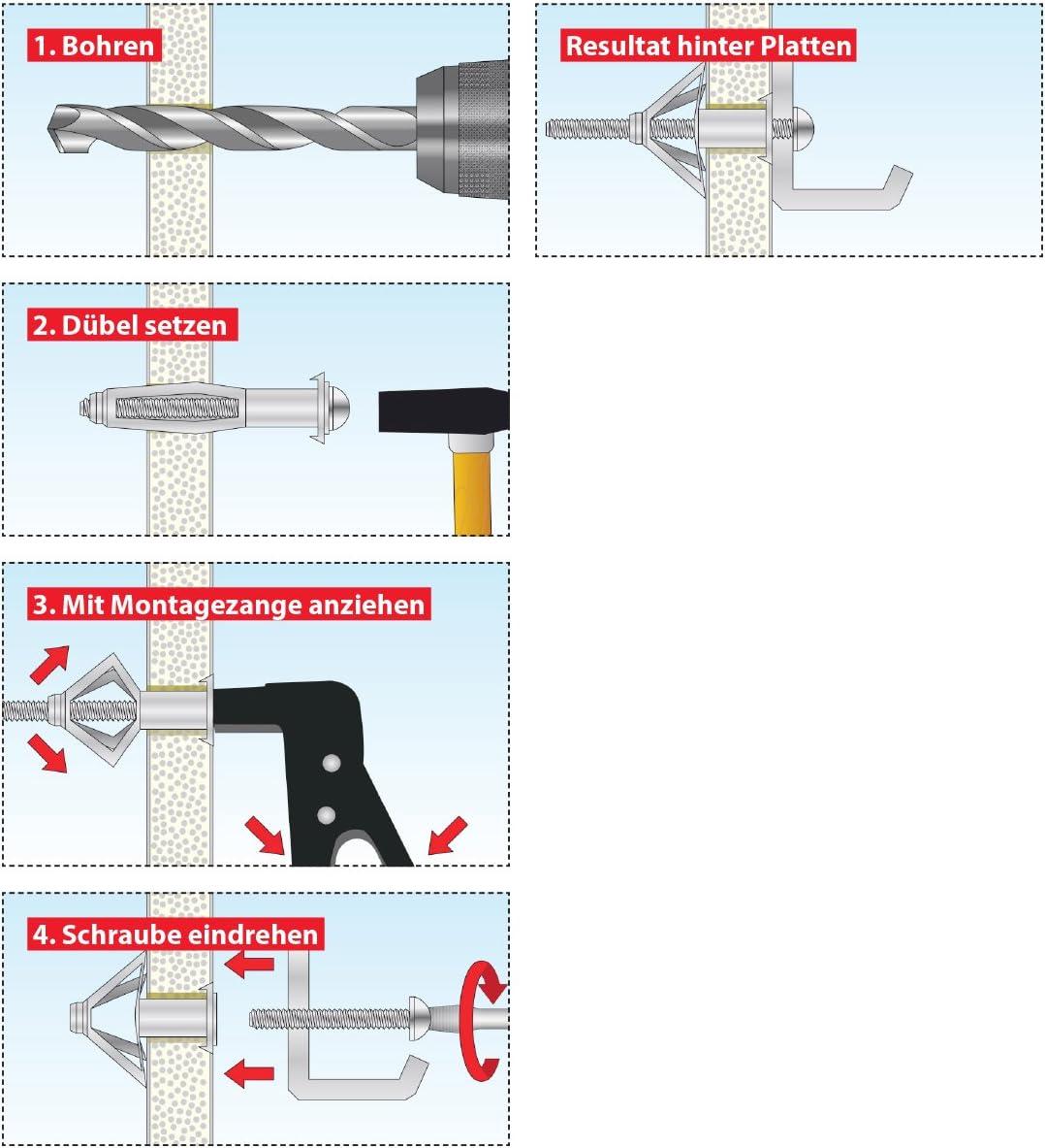 TOX Taco met/álico para espacios huecos Acrobat M6 x 65 mm 035101131 25 piezas