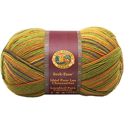 Lion Brand Yarn 240-206N Sock-Ease Yarn, Sour Ball