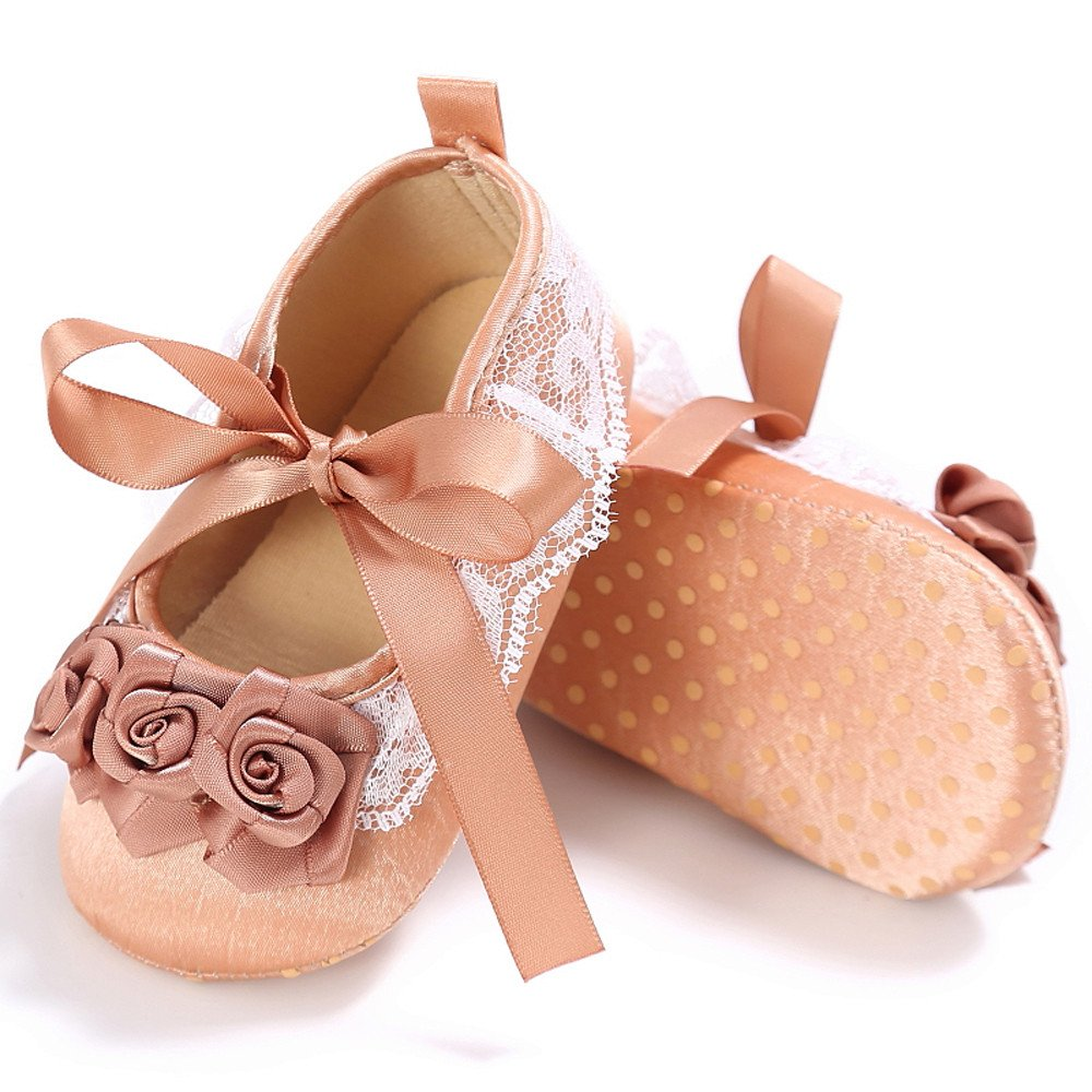 Cute Infant Girl Crib Shoes Newborn Flower Soft Sole Anti-slip Sneakers Sandals