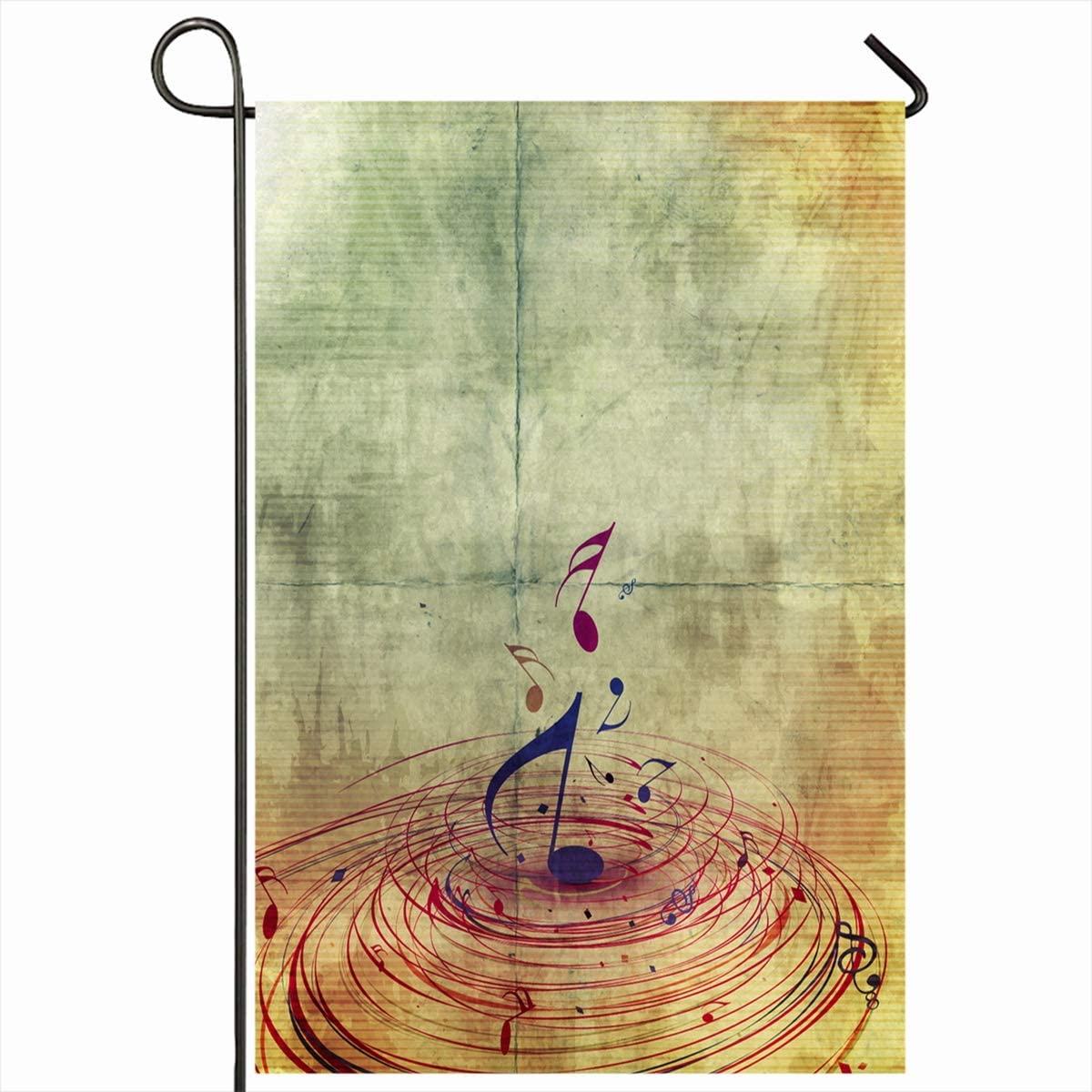 Amazon Com Ahawoso Outdoor Garden Flags 12 X18 Inch Musical Classic Abstract Music Notes Concert Event Sheet Staff Symphony Notation Vertical Double Sided Home Decorative House Yard Sign Garden Outdoor
