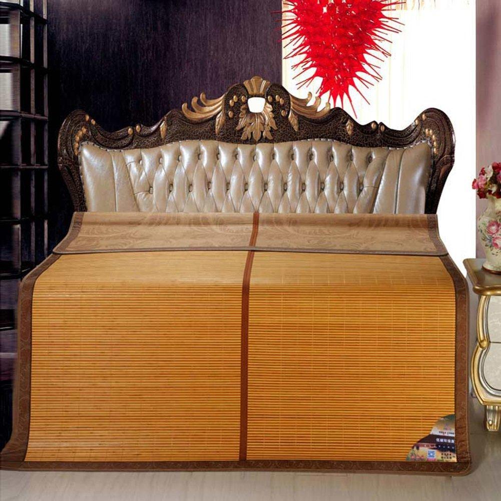 WENZHE Matratzen Matratze Bambus Sommerschlafmatte Bettmatte Sommer Atmungsaktiv Glatt Kühlung Schweißabsorbierend Bettwäsche Schlafzimmer Doppelt Einzelbett, 5 Größen Strohmatte Teppiche