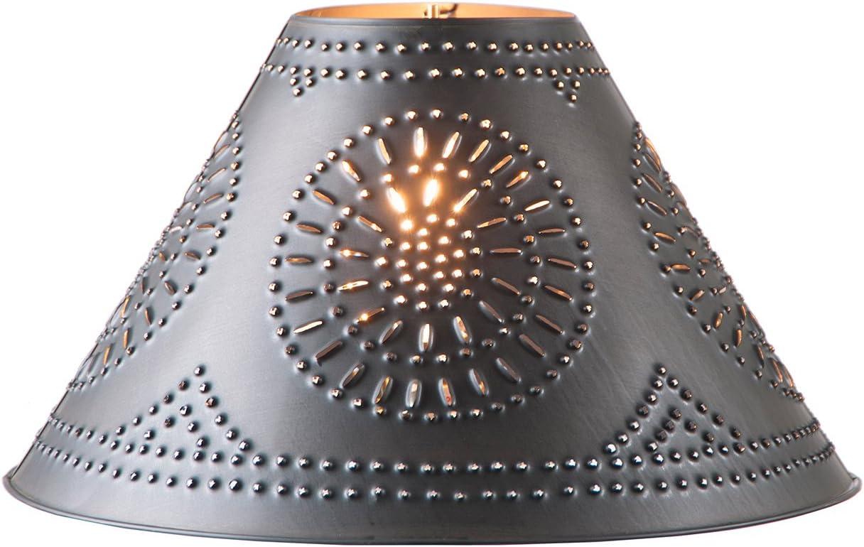 15-Inch Tinner's Chisel Design Shade in Smokey Black