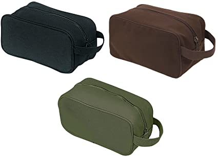 fc5f324314 Image Unavailable. Image not available for. Color  Toiletry travel kit bag  canvas with strap military style rothco 8126
