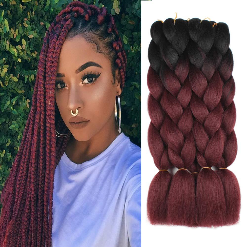 5 Pieces 2 Tone Ombre Braiding Hair Crochet