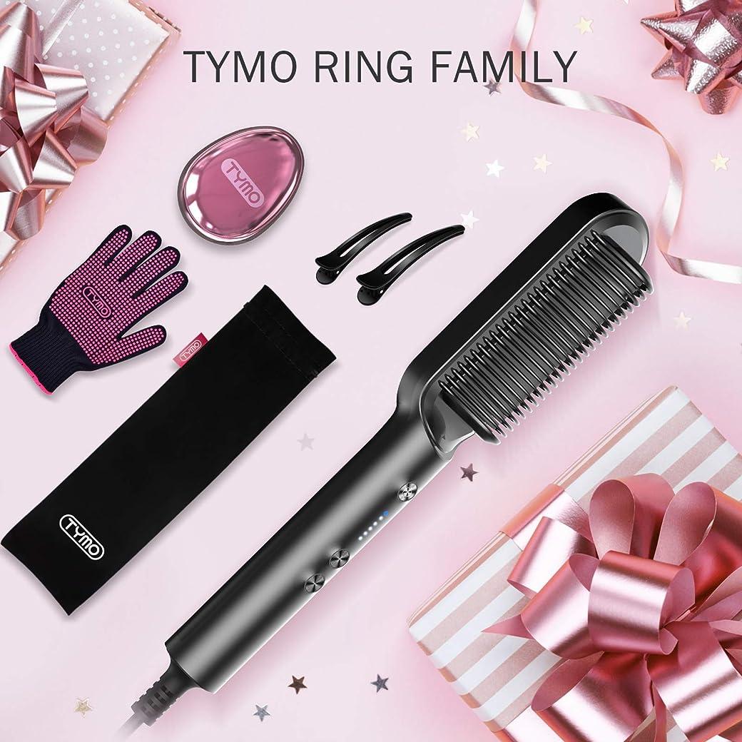 TYMO - Cepillo Alisador de Cabello Rizado