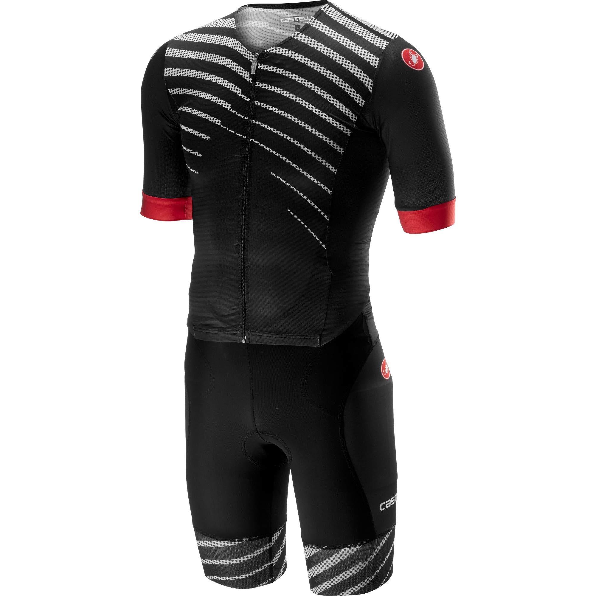 Castelli Men's Free Sanremo Short Sleeve Tri Suit (Black/Black, Small)