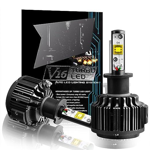 77 opinioni per TECHMAX H1 LED Lampadine Kit, di conversione 7200LM 60W 6000K luce bianca delle