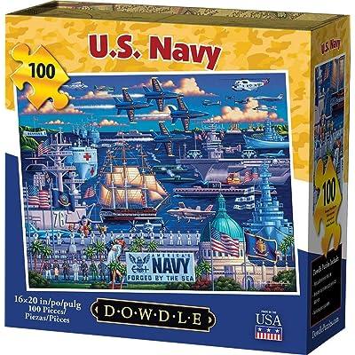 Dowdle Jigsaw Puzzle - U.S. Navy - 100 Piece: Toys & Games