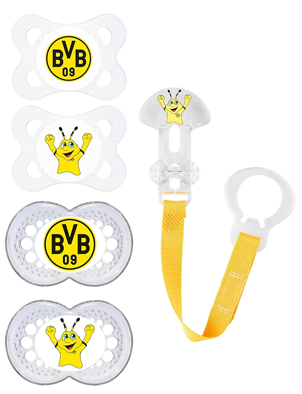 BVB 09 Borussia Dortmund Set, compuesto de 2 Chupete 0 - 6 ...