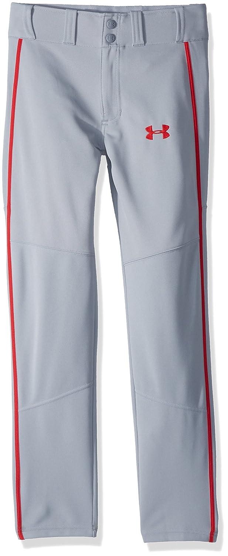 Under Armour 男の子用 Heater Piped Baseballシリーズ ベースボールパンツ 野球着 B0728BPJPQ Youth Medium|Baseball Gray/Red Baseball Gray/Red Youth Medium