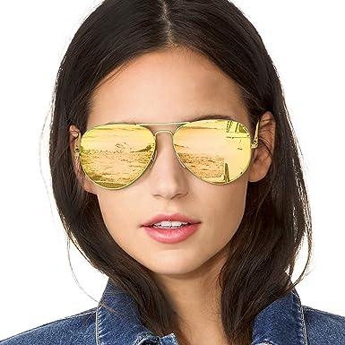 Herren pilot Polarisierend Sonnenbrille Pilotenbrille Verspiegelt Brillen