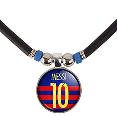 wholesale dealer c484e 94eae Lionel Messi Fc Barcelona Soccer Jersey Pendant Necklace ...