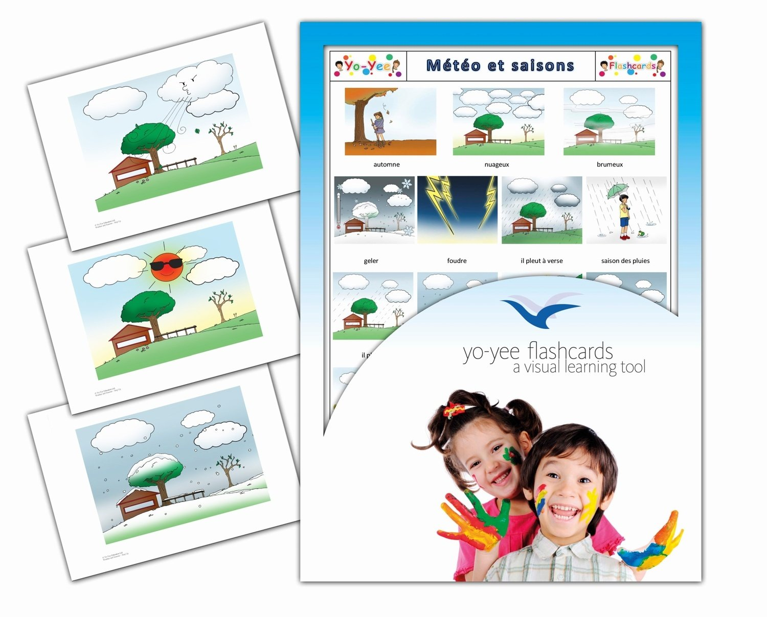 Météo et saisons - Weather, Seasons and Time of the Year Flashcards in French Yo-Yee Flashcards