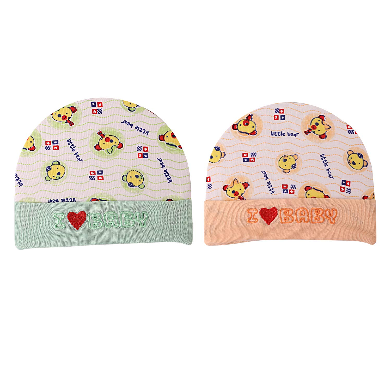 5bb43c5a S.L.PODDAR & CO Soft Pure Cotton Baby Caps Infant Unisex Hat/Topi ...