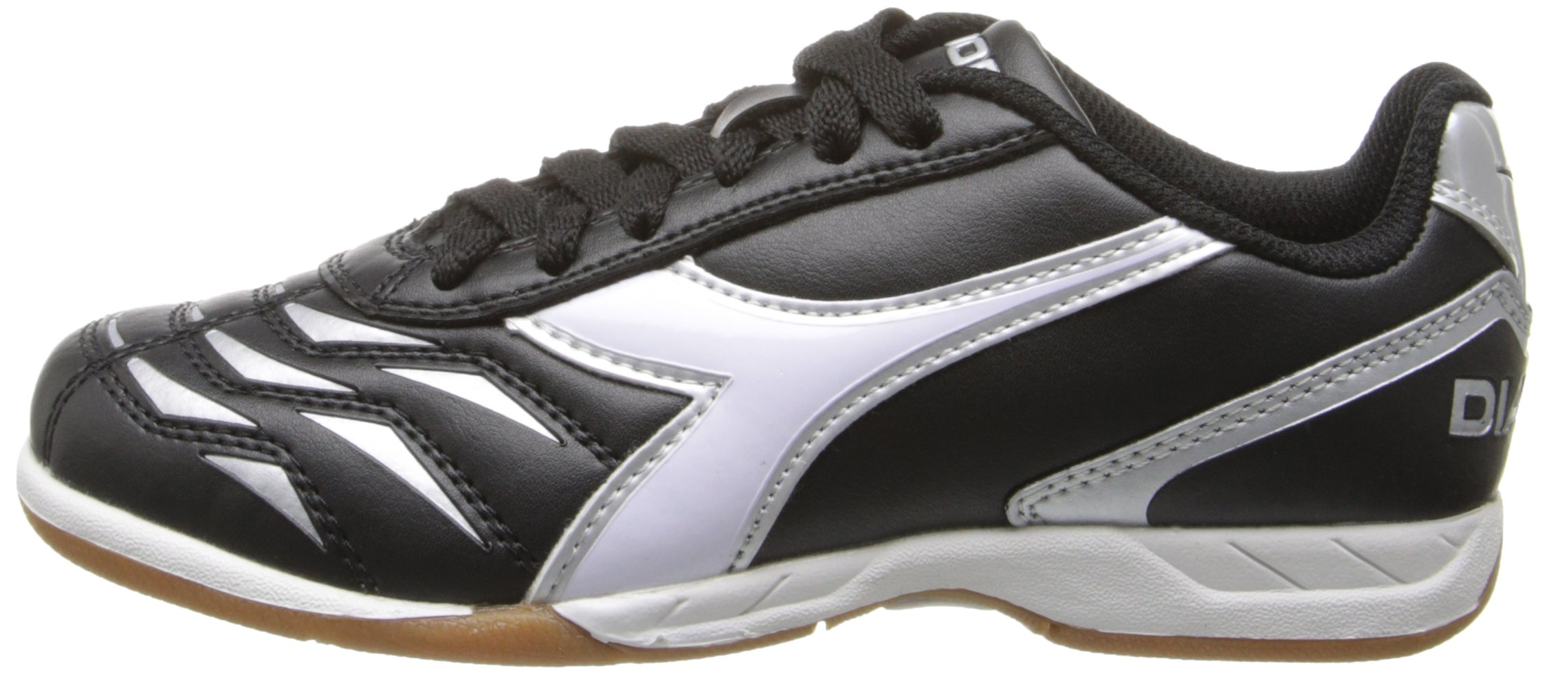 Diadora Capitano ID JR Indoor Soccer Shoe, Black/White, 3.5 M US Big Kid by Diadora (Image #5)