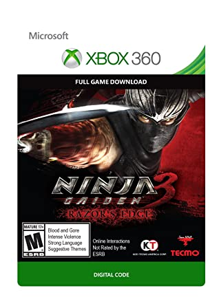 Amazon Com Ninja Gaiden 3 Razor S Edge Xbox 360 Digital Code Video Games