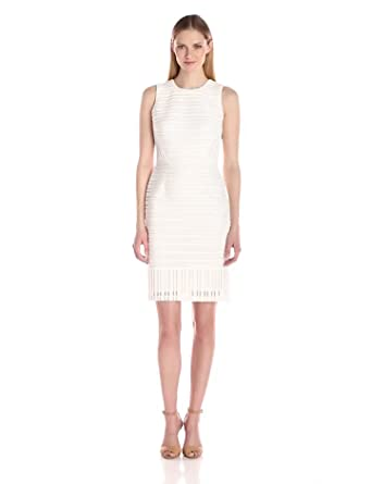 c951f174de1a Amazon.com  Calvin Klein Women s Lace Sheath Dress  Clothing