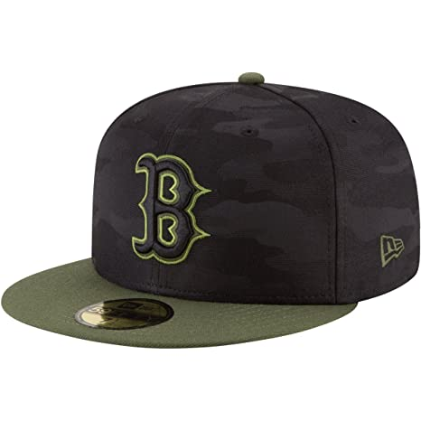 new concept 9692a 3d594 Image Unavailable. Image not available for. Color  New Era Boston Red Sox  2018 Memorial Day On-Field 59FIFTY Fitted Hat ...